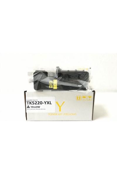 Bitoner Kyocera TK5220 Yüksek Kapasite Muadil Toner 1.800 Sayfa Sarı