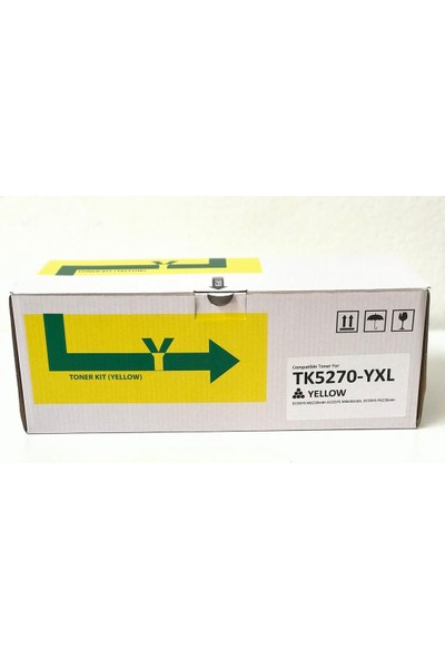 Bitoner Kyocera TK5270 Yüksek Kapasite Muadil Toner 9.000 Sayfa Sarı