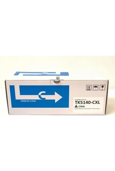 Bitoner Kyocera TK5140 Yüksek Kapasite Muadil Toner 7.500 Sayfa Mavi