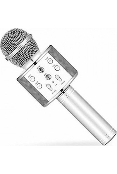 Wster Ws - 858 Karaoke Mikrofon Bluetooth Hoparlör Aux USB Mikro Sd Kart Girişli