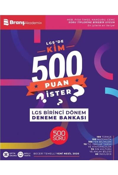 Branş Akademi 8. Sınıf LGS'de Kim 500 Puan İster İlk Dönem Deneme Bankası