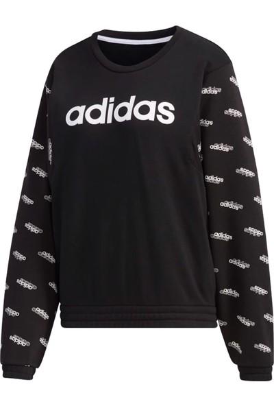 adidas Siyah Kadın Günlük Sweatshirts FM6185 W Fav Sw