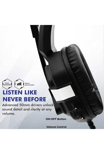 Promate Python Oyun Kulaklığı Surround Kulak Üstü USB Giriş LED li Mikrofonlu