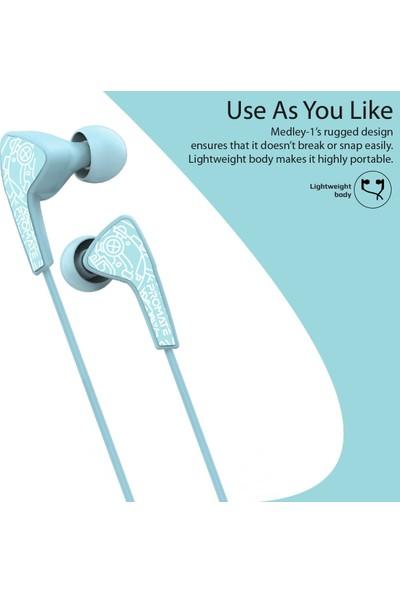 Promate Medley-1 Kulaklık Kablolu Kulak İçi Stereo Bass Mikrofonlu