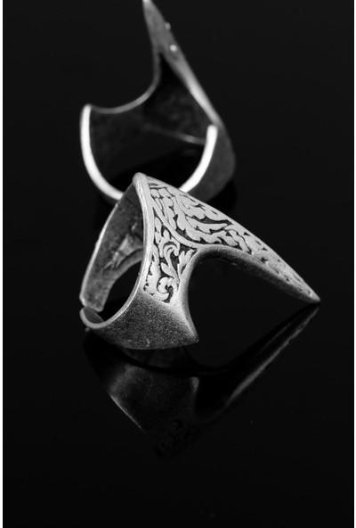 Bir Dolu Çeşit Çelik Desenli Miğfer Figür Ayarlamalı Erkek Yüzük