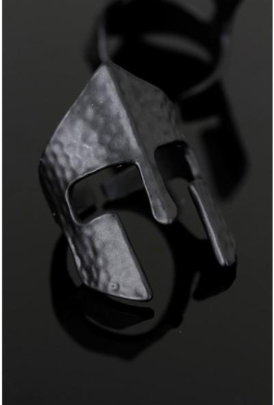 Bir Dolu Çeşit Çelik Miğfer Figür Ayarlamalı Erkek Yüzük