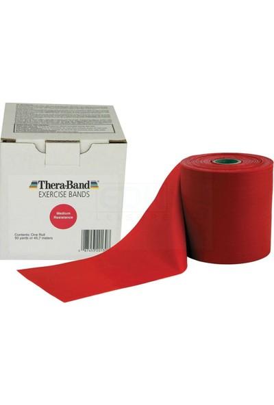 Thera-Band 50130 Egzersiz Bandı 45 Metre Orta Sert Kırmızı