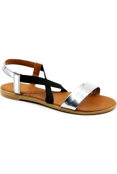 Aubriella Gümüş Cilt Kadın Sandalet