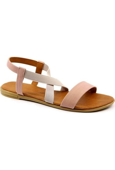 Aubriella Pudra Süet Kadın Sandalet