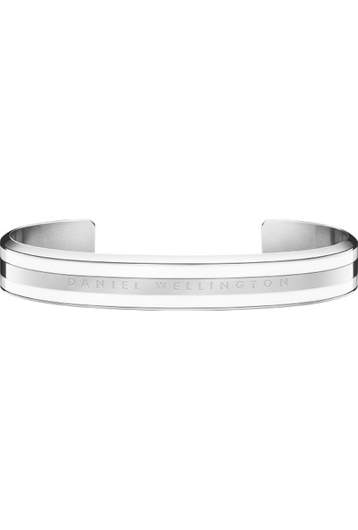 DANIEL WELLINGTON Classic Bracelet Silver Satin White Medium - Unisex