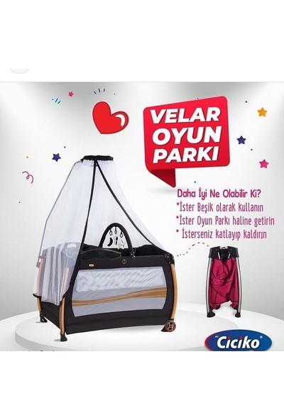 Acr Ciciko C-1000 Velar Tüllü Bebek Oyun Parkı Yatak Beşik - Siyah