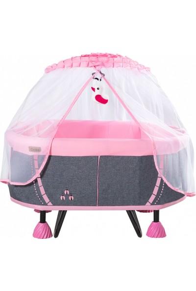 Acr Ciciko C-1015 Ana Dizi Sallanır Bebek Beşiği Gri-Pembe