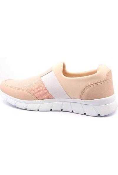 Radley Pudra Renk Likralı Beyaz Taban Kadın Spor Ayakkabı