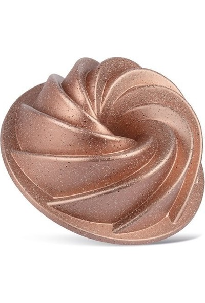 Nehir Nilüfer Döküm Granit Rüzgar Gülü Kek Kalıbı Rosegold 26 cm