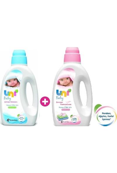 Uni Baby Bebek Çamaşır Deterjanı 1800 ml + Bebek Çamaşır Yumuşatıcısı 1800 ml