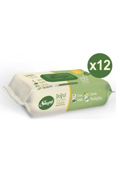 Sleepy Doğal Organik Pamuklu Temizlik Havlusu 12X50 Yaprak