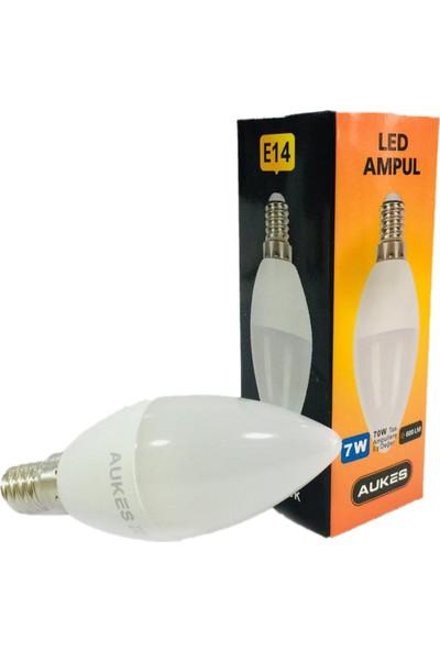 Aukes 7W E14 4100K Gün Işığı Mum Led Ampul