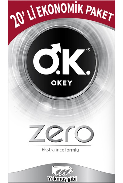 Okey Zero 20'li Prezervatif Ekonomik Paket