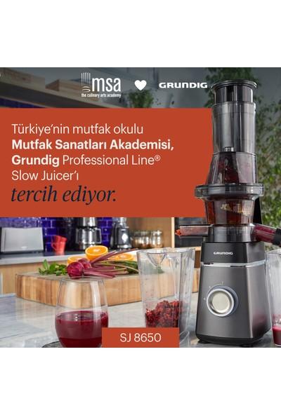 Grundig SJ 8650 Professional Line Slow Juicer - Soğuk Sıkım Sebze&Meyve Sıkacağı