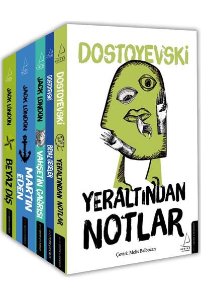 Dünya Klasik Seti 1 (5 Kitap Takım) - Jack London - Dostoyevski