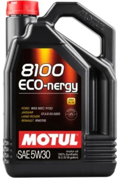 Motul 8100 Eco-Nergy 5W30 5 Litre Motor Yağı ( Üretim Yılı:2020 )