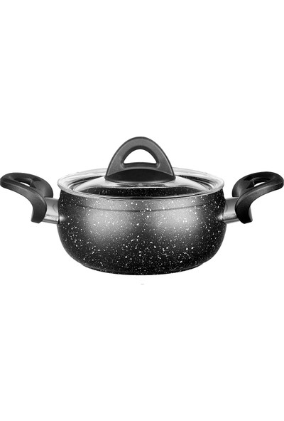 Hisar Assos Multi Granit Siyah 6 Parça Mini Tencere Seti