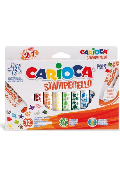 Carioca Stamperello Damga Ve Keçeli Kalem 12Li