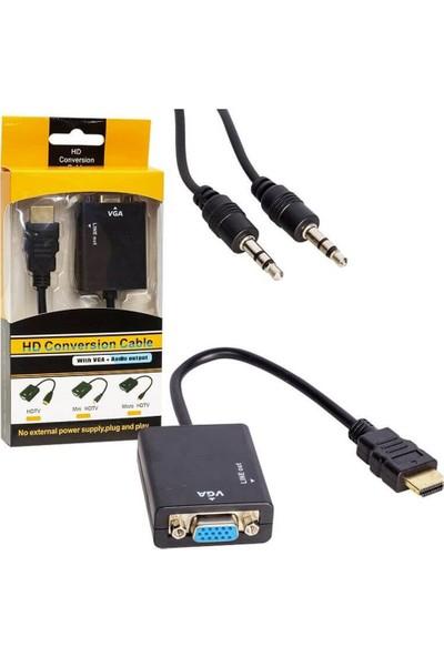Powermaster HDMI To Vga+Audio Çevirici