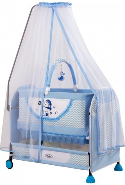 Acr Ciciko C-1010 Songül Sallanır Bebek Beşiği Mavi