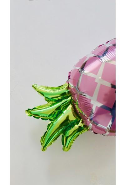 Ohlala Party Pembe Ananas Şeklinde Folyo Balon