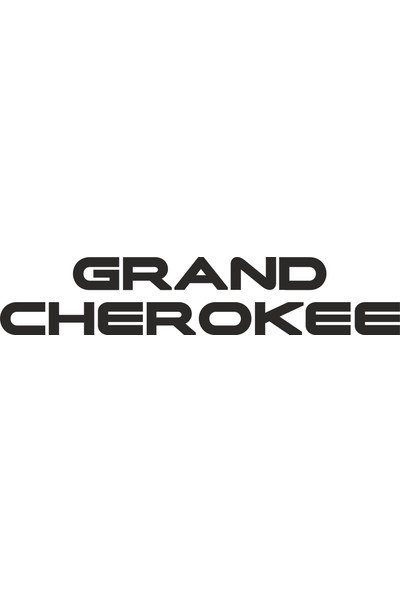 Sticker Fabrikası Grand Cherokee Sticker 11 x 2 cm Renkli