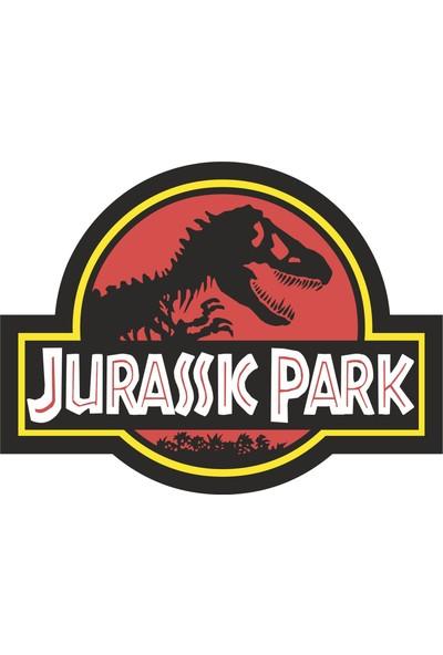 Sticker Fabrikası Jurassic Park Sticker 12 x 8,5 cm Renkli