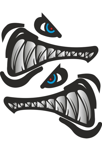 Sticker Fabrikası Kızgın Köpek Balığı 16 x 12 cm Renkli