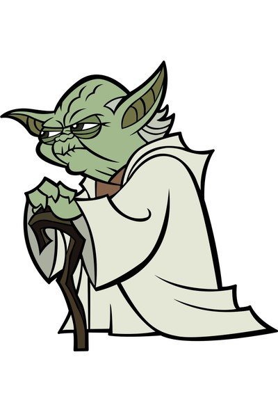 Sticker Fabrikası Yoda Sticker 10 x 10,5 cm Renkli
