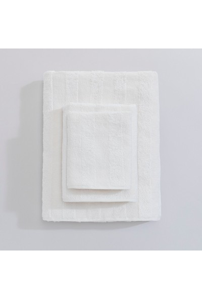 Chakra Stripe Havlu 85 x 150 cm Ekru
