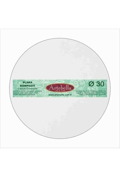 Artebella Kompozit Plaka Yuvarlak 30 cm