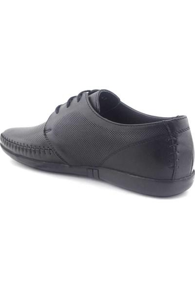 Zirve 270010 Hakiki Erkek Ayakkabı Siyah Analin
