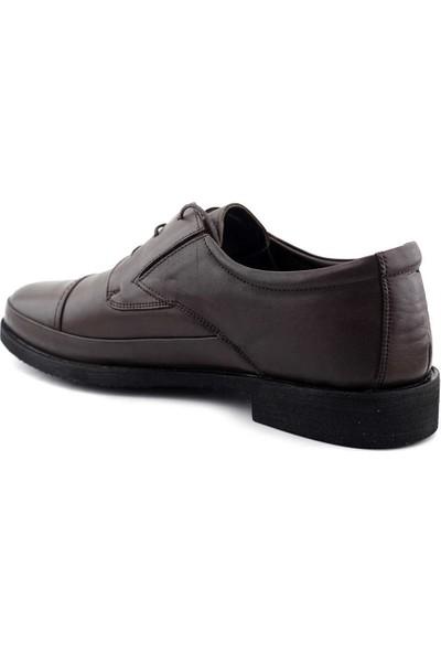 Voyager 4424 Hakiki Deri Erkek Ayakkabı Kahverengi