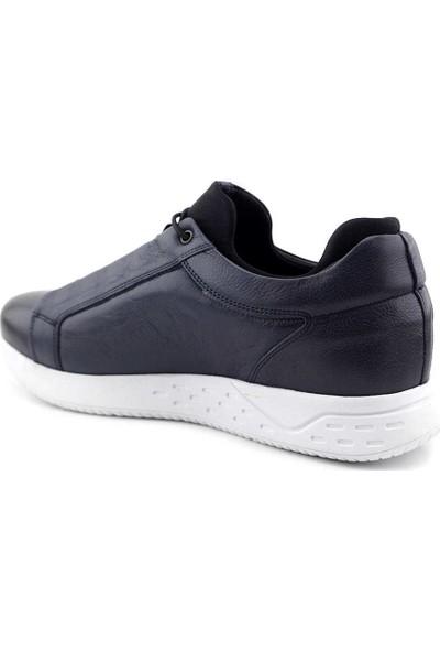 Voyager 4304 Hakiki Deri Erkek Ayakkabı Lacivert