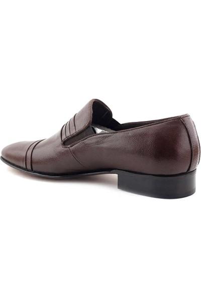 Suphi Şeker 4059 Hakiki Deri Erkek Günlük Ayakkabı Kahverengi
