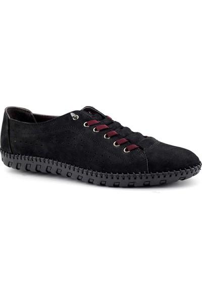Secure 1710 Hakiki Deri Erkek Ayakkabı Siyah Nubuk