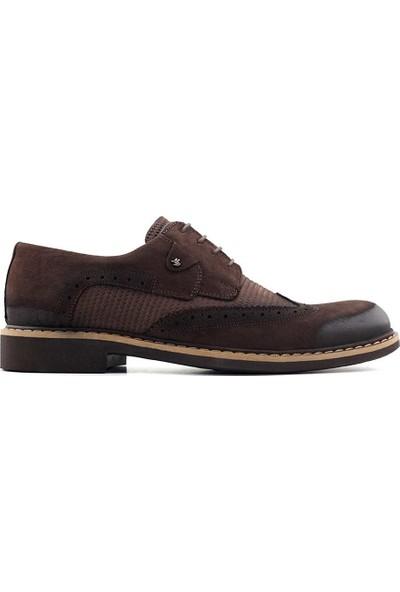 Murat Doğan 2152 Erkek Klasik Ayakkabı Kahverengi Nubuk
