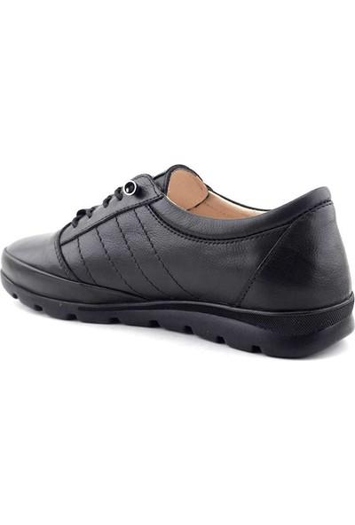 Marco Blanco 004 Kadın Comfort Ayakkabı Siyah