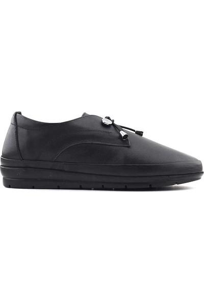 Kayra 30 Hakiki Deri Kadın Ayakkabı Siyah