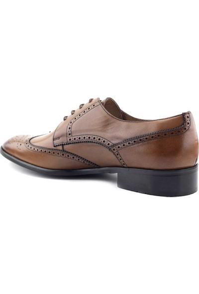 Fosco 7572 Hakiki Deri Erkek Klasik Ayakkabı Taba
