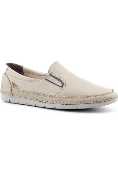 Evida 2693 Hakiki Deri Kadın Ayakkabı Kum