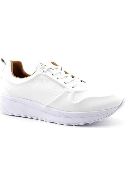 Estile 658 Hakiki Deri Kadın Ayakkabı Beyaz