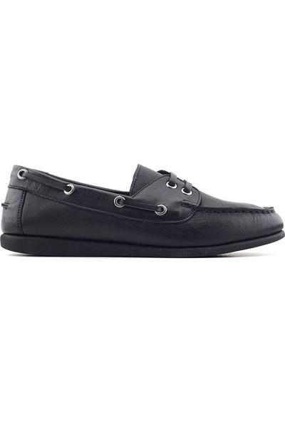 Estile 221 Hakiki Deri Kadın Ayakkabı Siyah