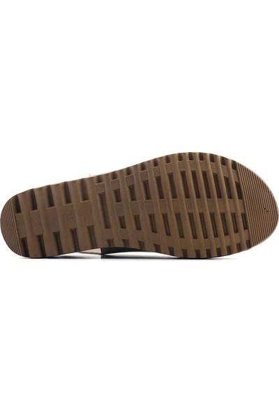 Ekinci 033 Hakiki Deri Kadın Sandalet Vizon