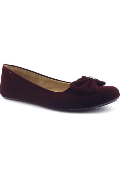 Muya 69717 Kapalı Kadın Ev Ayakkabısı Bordo